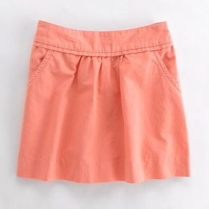J. Crew Pink Cotton Cavalry Skirt